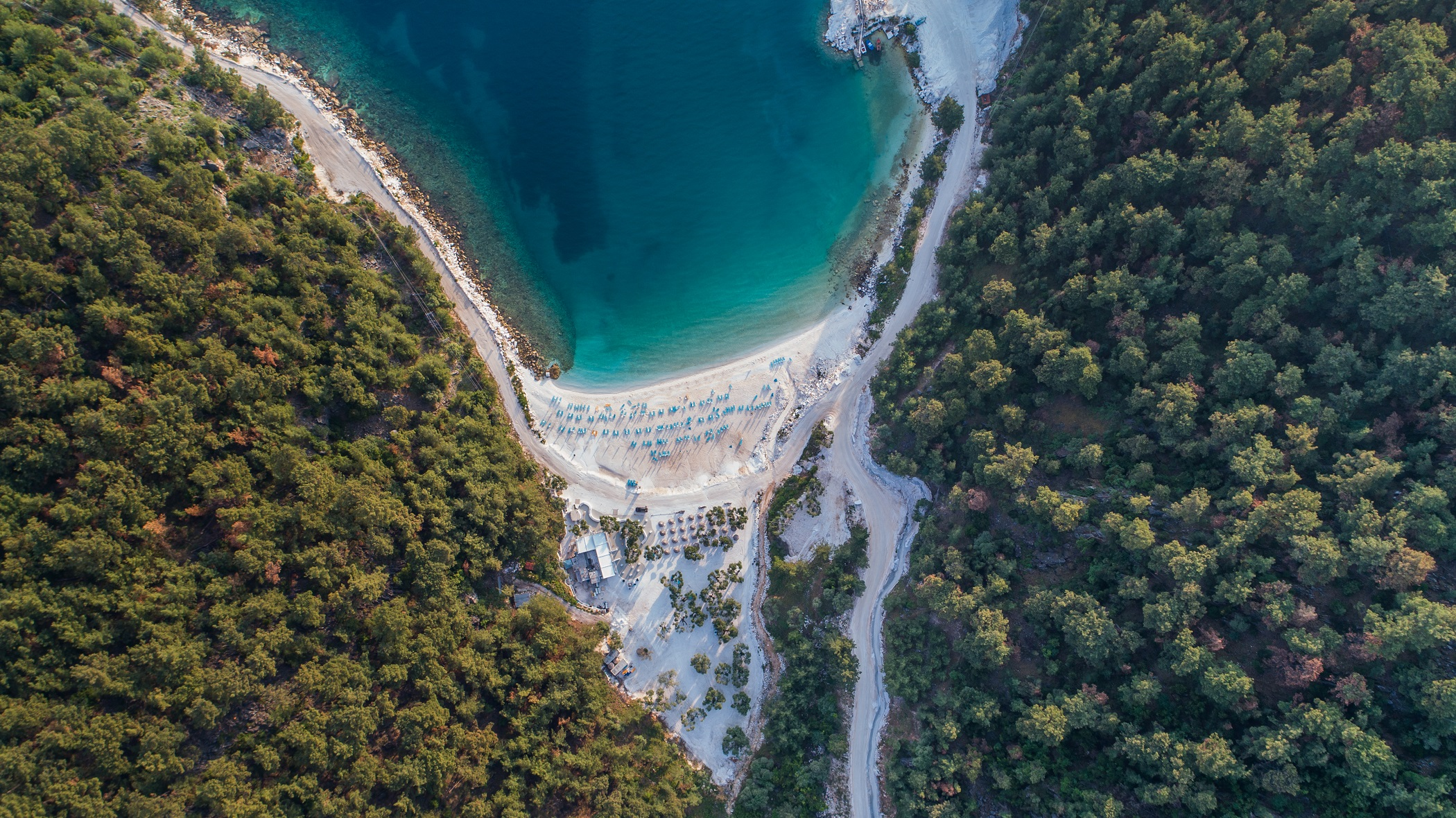 Porto Vathy Marble Beach in Thassos Island Greece